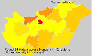 Surname Hatala in Hungary