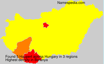 Surname Haupert in Hungary