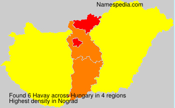 Surname Havay in Hungary