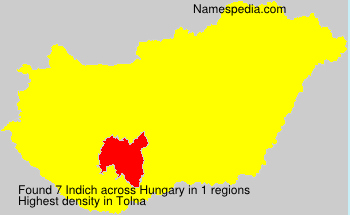 Surname Indich in Hungary