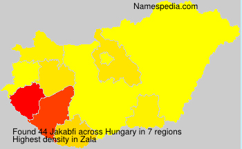 Surname Jakabfi in Hungary