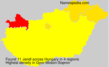 Surname Jandl in Hungary
