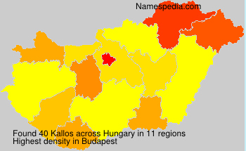 Surname Kallos in Hungary