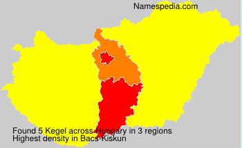 Familiennamen Kegel - Hungary