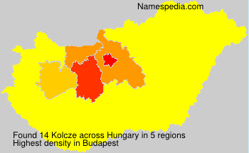 Surname Kolcze in Hungary