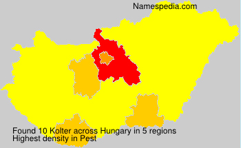 Surname Kolter in Hungary