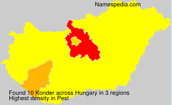 Surname Konder in Hungary