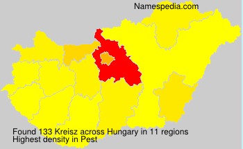 Surname Kreisz in Hungary