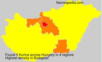 Surname Kurina in Hungary