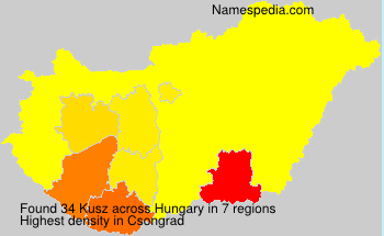 Familiennamen Kusz - Hungary