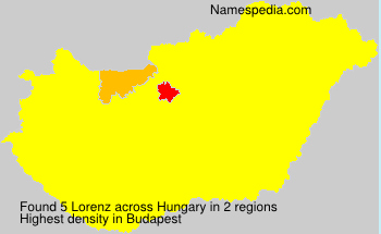Surname Lorenz in Hungary
