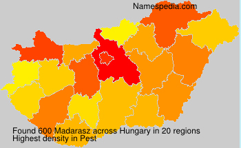 Surname Madarasz in Hungary