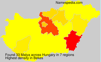 Surname Malya in Hungary