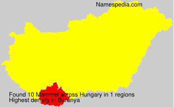 Surname Mammel in Hungary