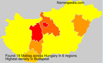 Surname Matlag in Hungary