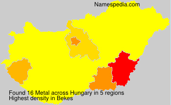 Surname Metal in Hungary