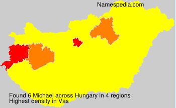 Familiennamen Michael - Hungary