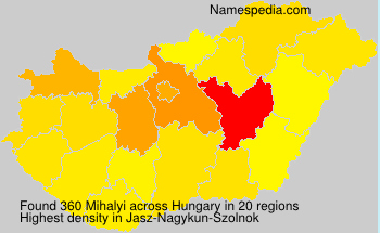Surname Mihalyi in Hungary