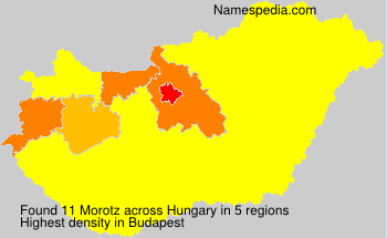 Surname Morotz in Hungary
