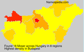 Surname Moser in Hungary