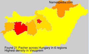Surname Pacher in Hungary