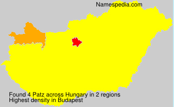 Surname Patz in Hungary