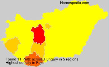 Surname Peltz in Hungary