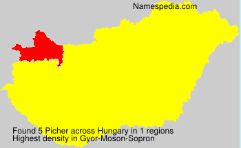 Surname Picher in Hungary