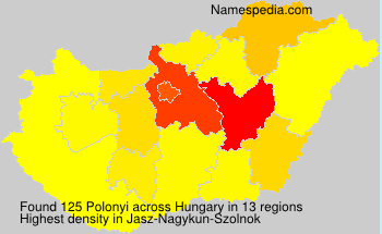Surname Polonyi in Hungary