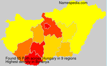 Surname Poth in Hungary