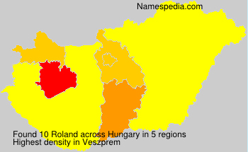 Surname Roland in Hungary