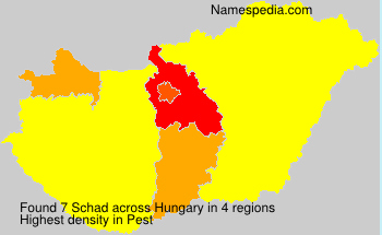 Surname Schad in Hungary