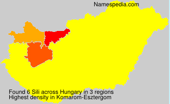 Surname Sili in Hungary