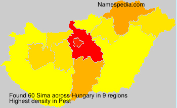 Surname Sima in Hungary