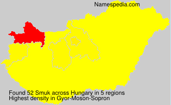 Surname Smuk in Hungary