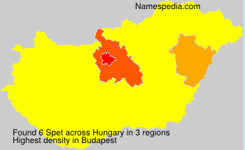 Surname Spet in Hungary