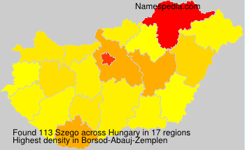 Surname Szego in Hungary