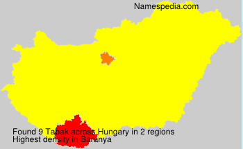 Surname Tabak in Hungary