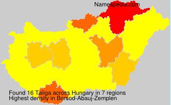 Surname Taliga in Hungary