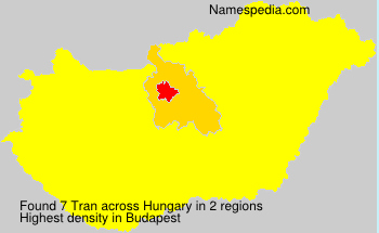 Surname Tran in Hungary