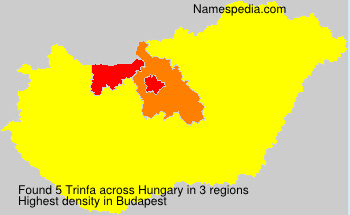 Surname Trinfa in Hungary