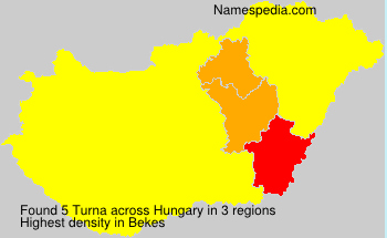 Surname Turna in Hungary