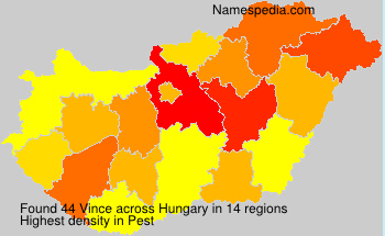 Surname Vince in Hungary