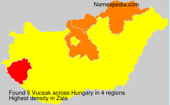 Surname Vucsak in Hungary