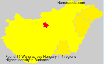 Surname Wang in Hungary