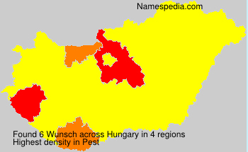 Surname Wunsch in Hungary