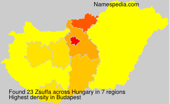 Surname Zsuffa in Hungary