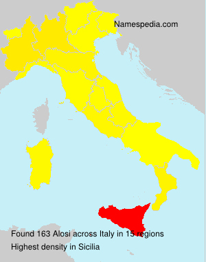 Surname Alosi in Italy