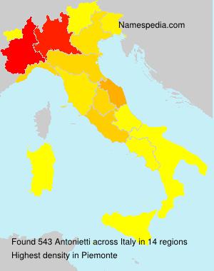 Surname Antonietti in Italy