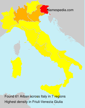 Surname Arban in Italy